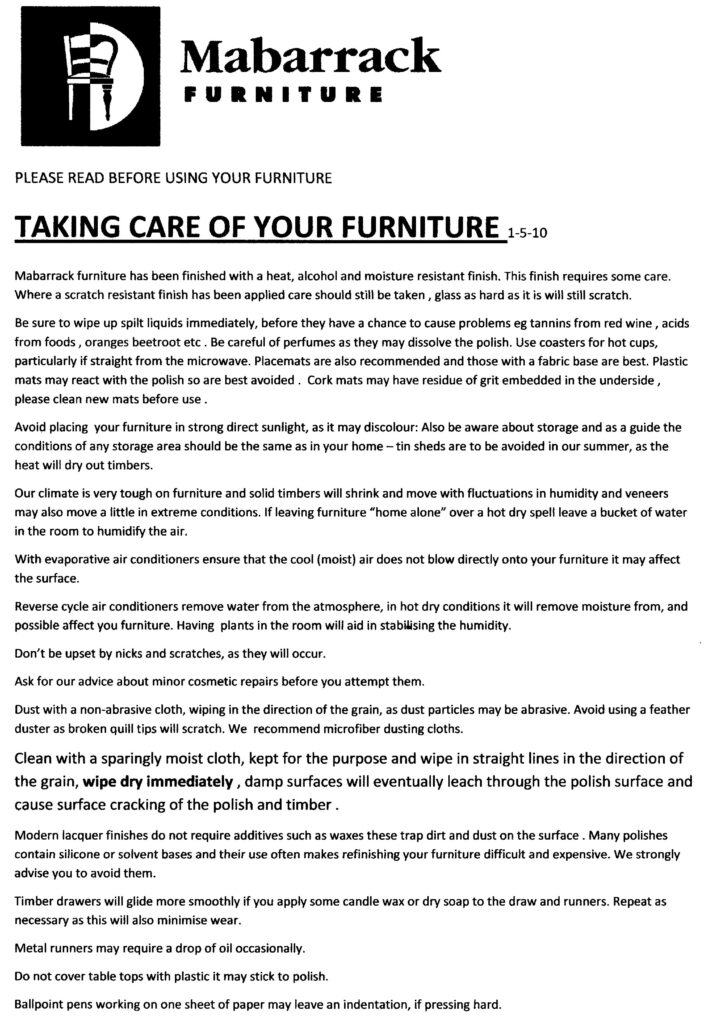 Furniture Care Info 3